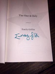 emily giffin autograph