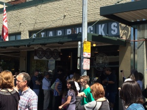 The Original Starbucks...sorry for the bad angle!