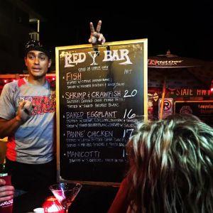 red bar menu